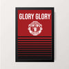 """Glory Glory Manchester United"" Wall Decor"