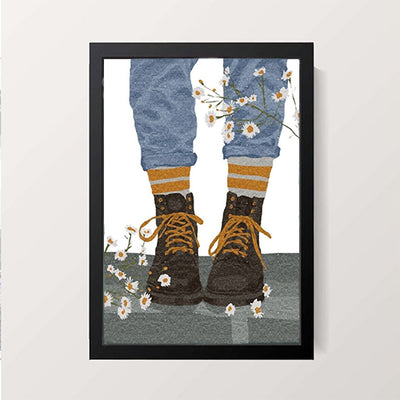 """Boots Bloom"" Wall Decor"