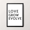 """Love Grow Evolve"" Wall Decor"