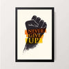 """Never Give Up"" Wall Decor"