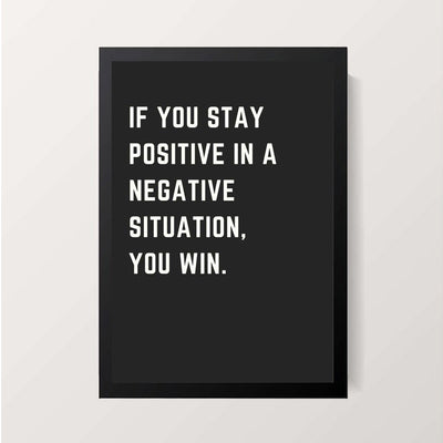 """Stay Positive"" Wall Decor"