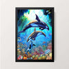 """Dolphins"" Wall Decor"