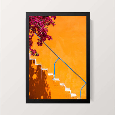 """Yellow Stairs"" Wall Decor"