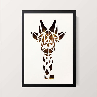 """Symmetric Giraffe"" Wall Decor"