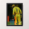 """Dhoni - Chennai Super Kings"" Wall Decor"