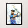 """Dhoni Artwork"" Wall Decor"