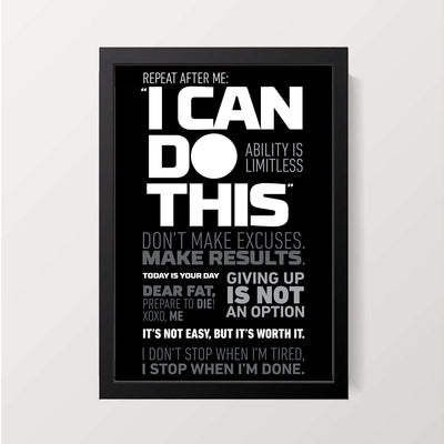 """I Can Do This"" Wall Decor"