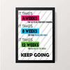 """Keep Going"" Wall Decor"