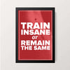 """Train Insane"" Wall Decor"