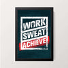 """Work Sweat Achieve"" Wall Decor"