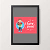 """I Love You"" Wall Decor"