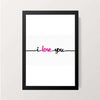 """Love Typography"" Wall Decor"