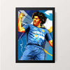"""Lasith Malinga"" Wall Decor"
