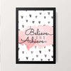 """Believe and Achieve"" Wall Decor"