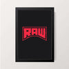 """RAW - Alternate Logo"" Wall Decor"