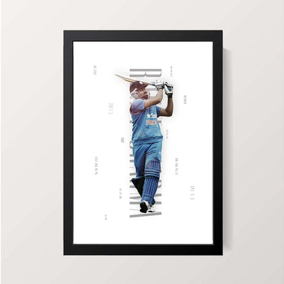"""The Hitman - Rohit Sharma"" Wall Decor"
