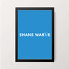 """Shane Warne - Topography"" Wall Decor"