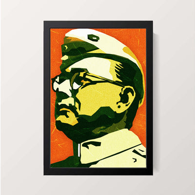 """Subhas Chandra Bose - Netaji"" Wall Decor"