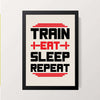 """TRAIN EAT SLEEP REPEAT"" Wall Decor"