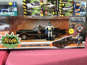 Batmobile with Batman and Robin Figures 1:24