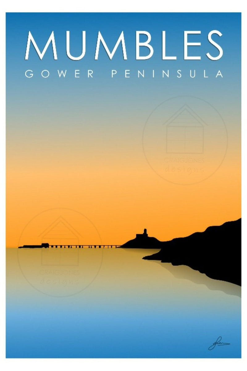 Craig Jones Greetings Card - Mumbles Sunrise