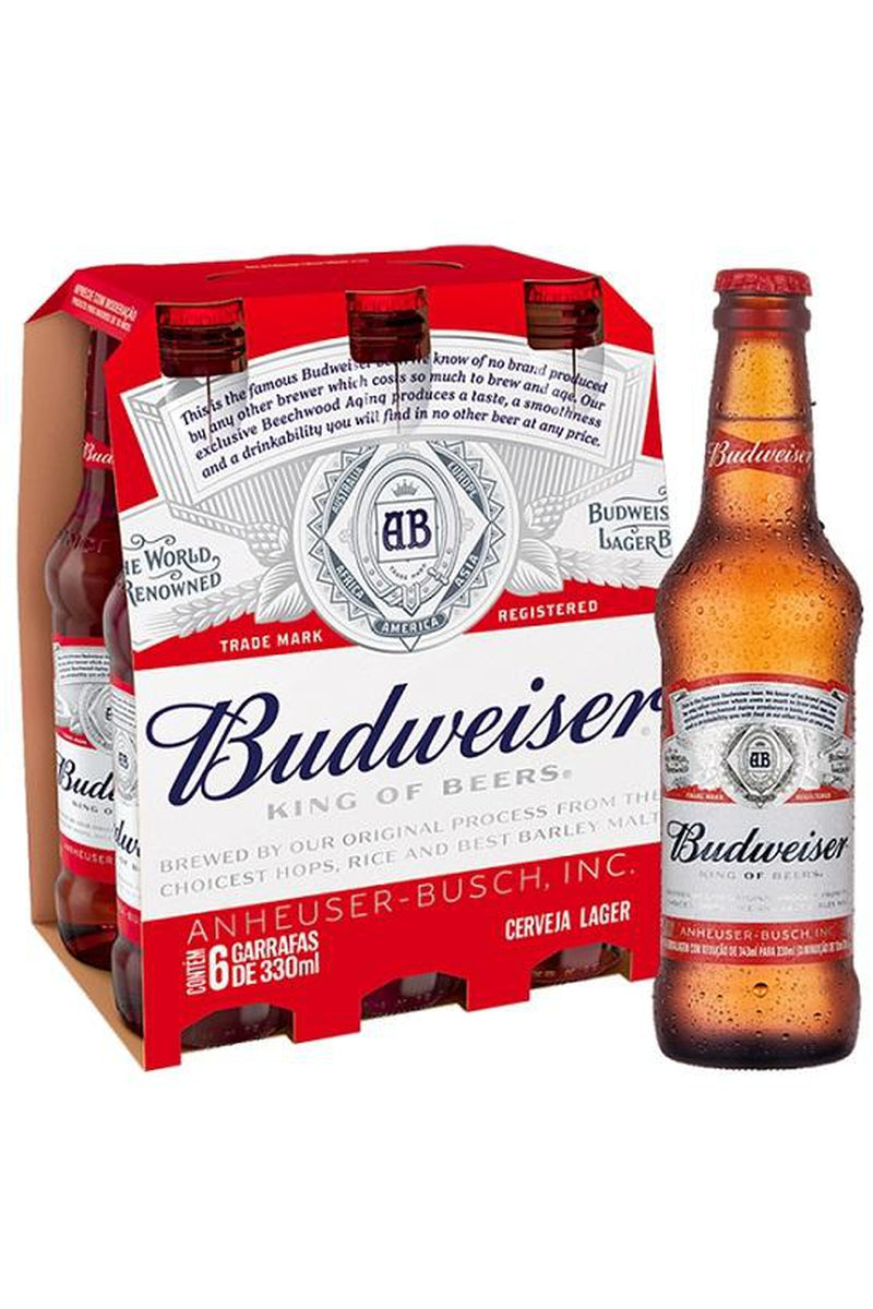 Budweiser 6 packs - Cheers Wine Merchants