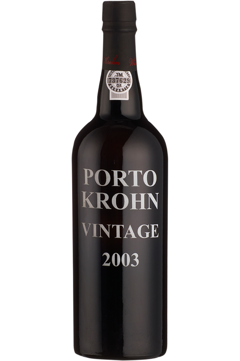 Krohn Port Vintage 2003 - Cheers Wine Merchants