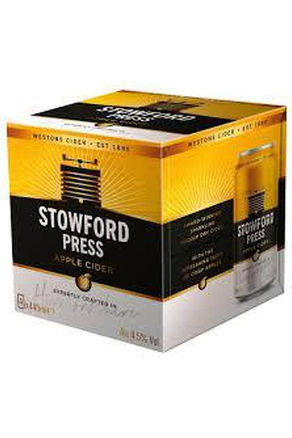 Westons Stowford Press Cider 4 x 440ml Cans - Cheers Wine Merchants