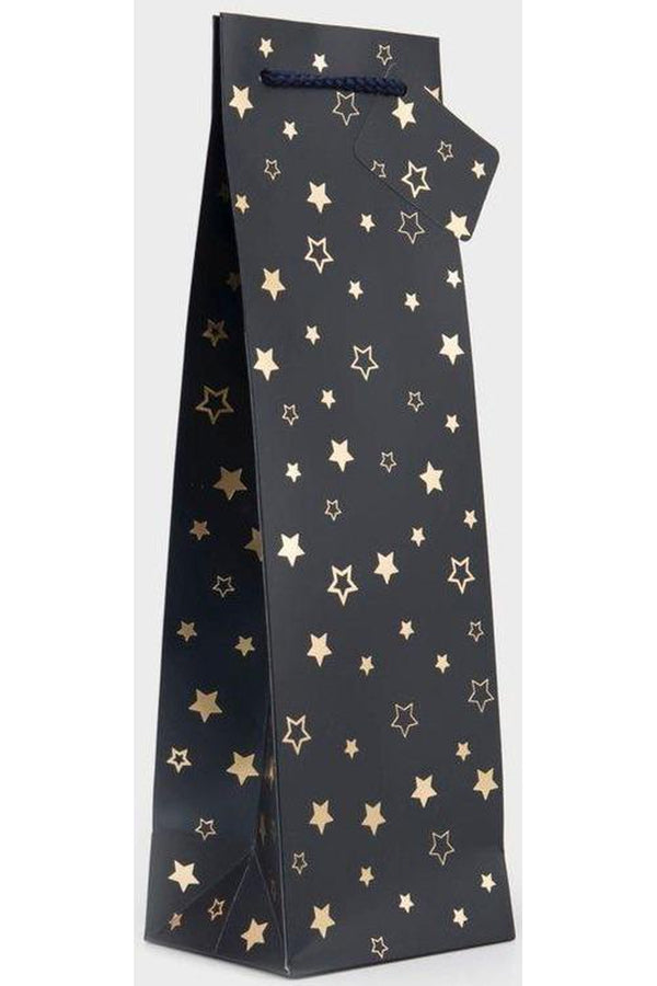 Navy with Gold Stars Gift Bottle Bag