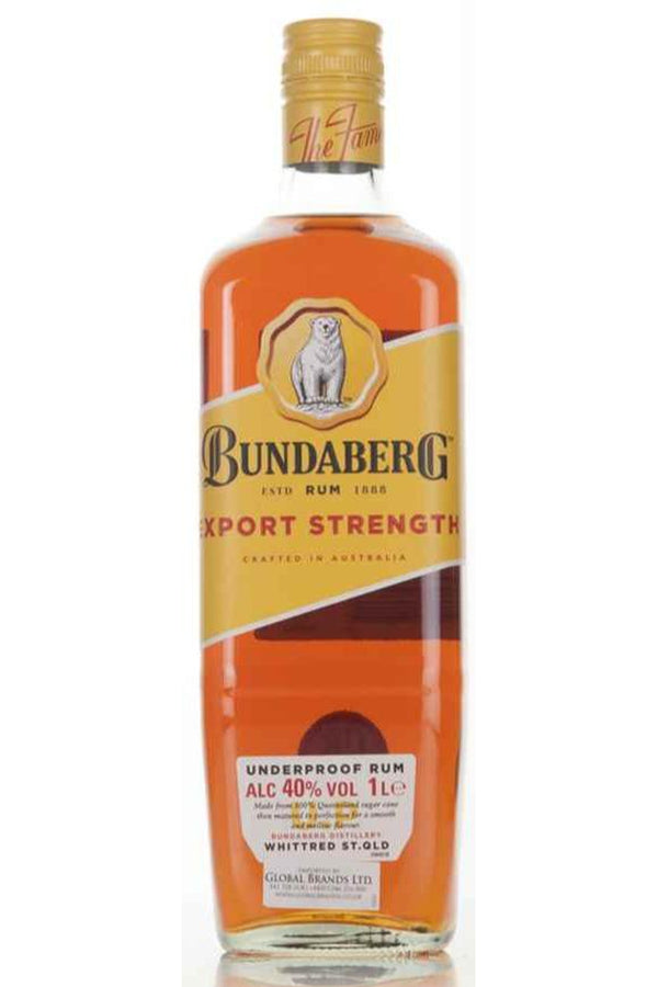 Bundaberg Rum Export Strength - Cheers Wine Merchants