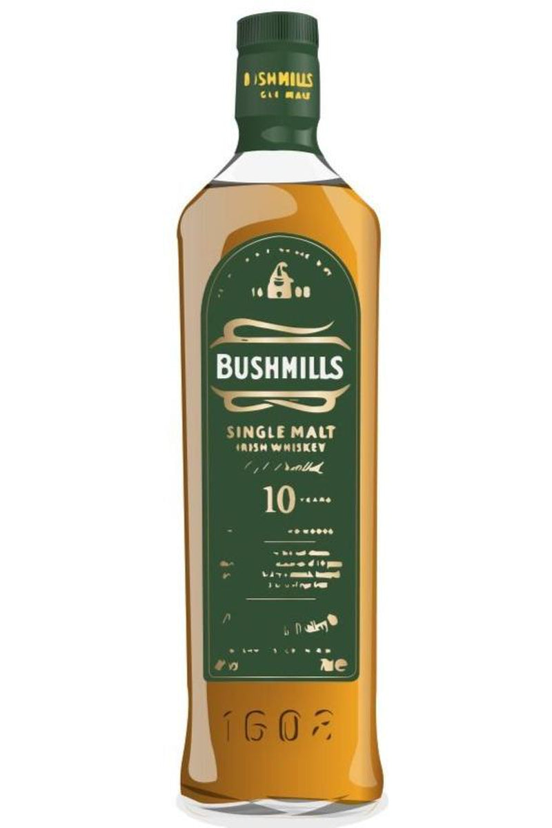 Bushmills 10 Year Old Single Malt Irish Whiskey - Cheers Wine Merchants