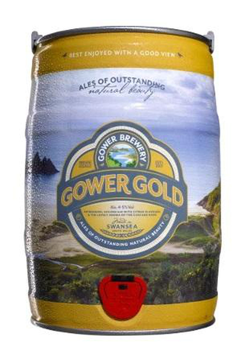Gower Gold Mini Keg - Cheers Wine Merchants
