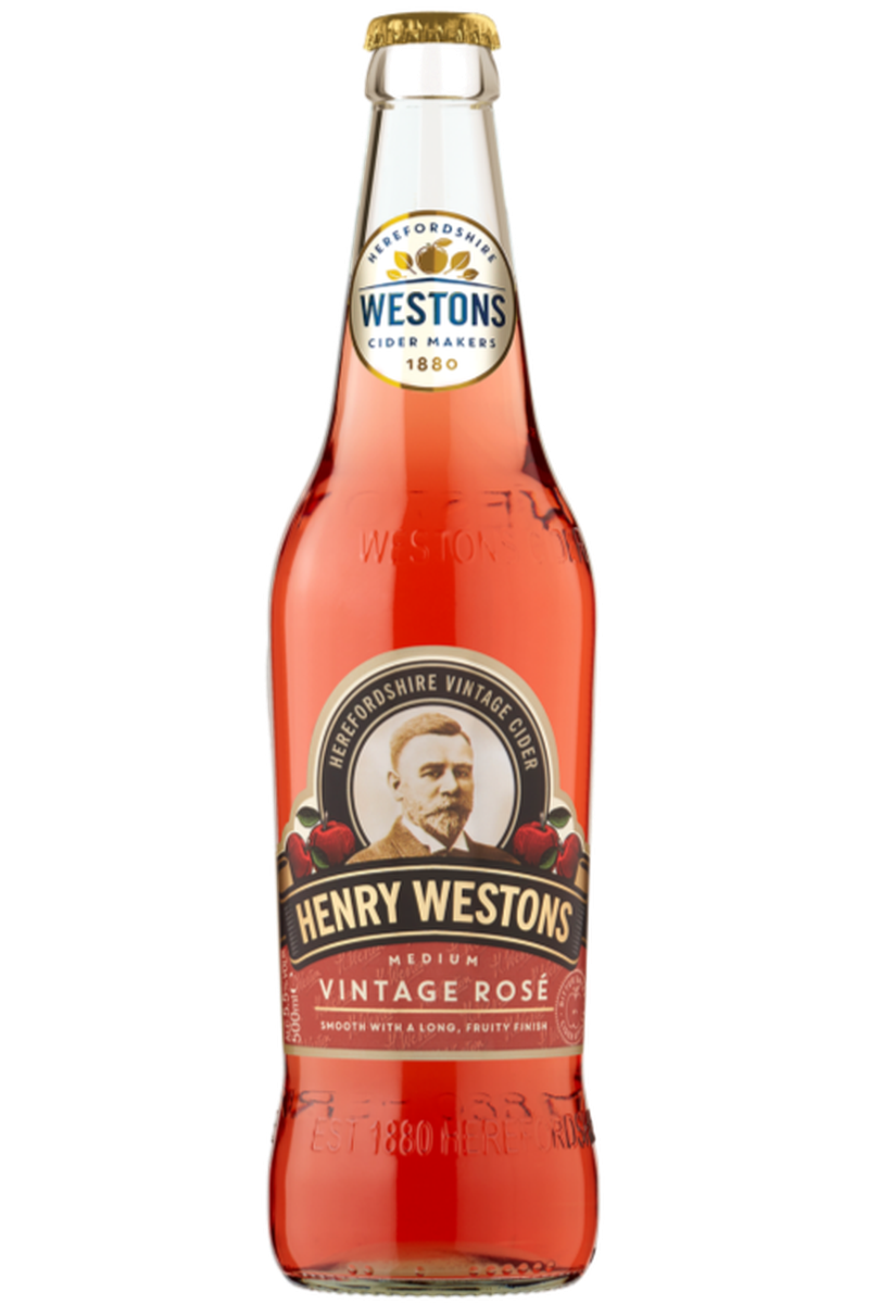 Henry Westons Vintage Rose Cider - Cheers Wine Merchants