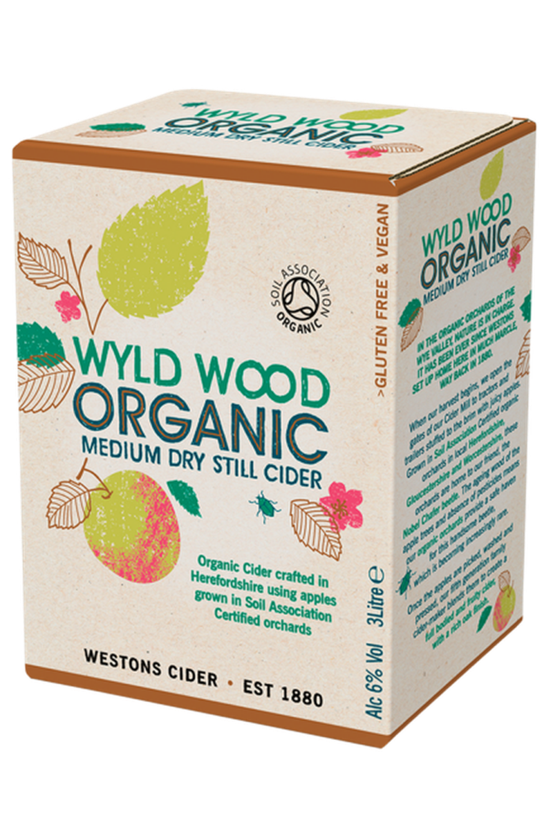 Westons Wyld Wood Organic Cider 3ltr Box - Cheers Wine Merchants