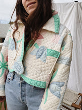 Load image into Gallery viewer, Ludlow Handmade Cropped Tulip Quilt Coat
