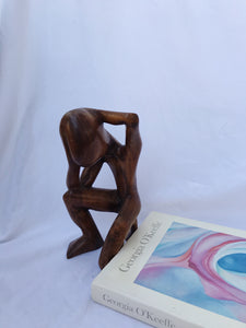 70s Wood Sculpture