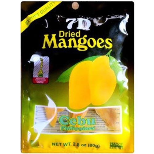7D - Dried Mangoes - Cebu Philippines - 80 G
