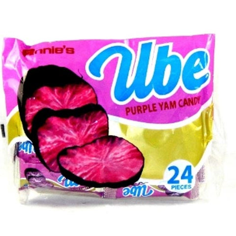Annies - Ube Candy - Purple Yam Candy - 24 Pieces - 220g
