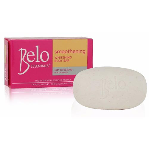 Belo Essentials - Smoothening Whitening Body Bar with Exfoliating Microbeads (Yellow) - 135 G