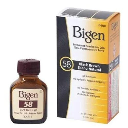 Bigen - Black Brown - Moreno Natural - Permanent Powder Hair Color