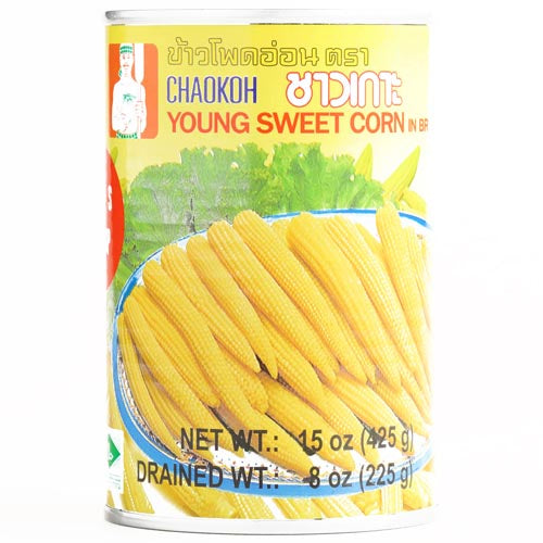 Chaokoh - Whole Baby Young Corn - 15 OZ