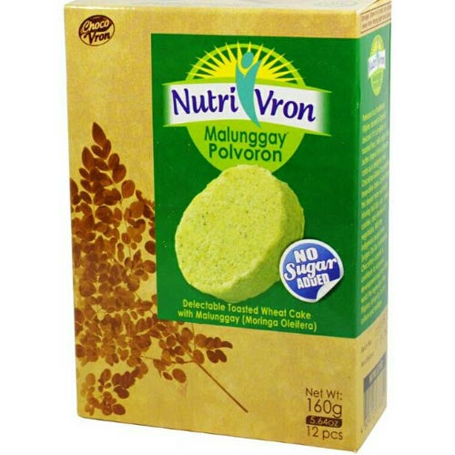 ChocoVron - NutriVron - Malunggay Polvoron - Delectable Toasted Wheat Cake with Malunggay - 12 PCS - 160 G