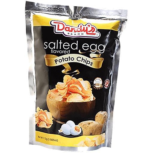 Dandy's Brand - Salted Egg Flavored Potato Chips - 113 G