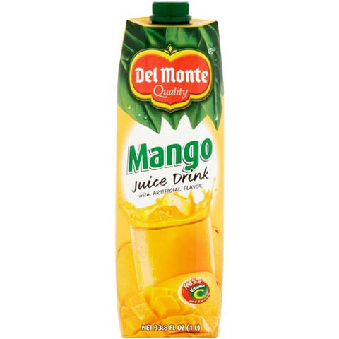 Del Monte Quality - Mango Juice Drink with Artificial Flavor - 1 Liter
