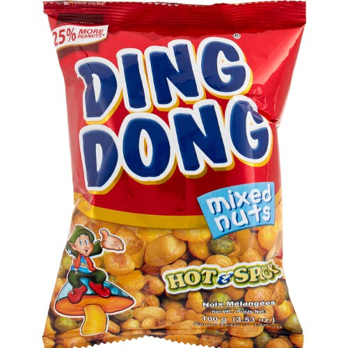 Ding Dong - Mixed Nuts - Hot and Spicy (RED)- 100 G