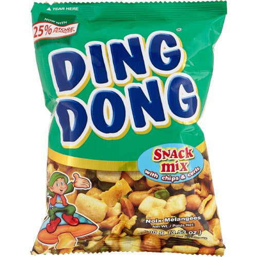 Ding Dong - Snack Mix with Chips and Curls (GREEN) - 100 G