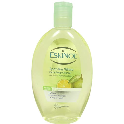 Eskinol - Spot-less White Facial Deep Cleanser with Pure Calamansi Extract - Micro Cleanse - Anti-Bacterial Formula - 225 ML
