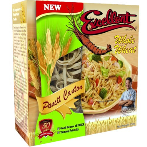 Excellent Brand - Pancit Canton with Whole Wheat - Instant Noodle Meal - 8 OZ