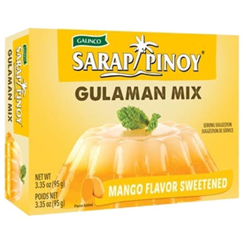Galinco - Sarap Pinoy - Gulaman Mix - Mango Flavor Sweetened - 95 G
