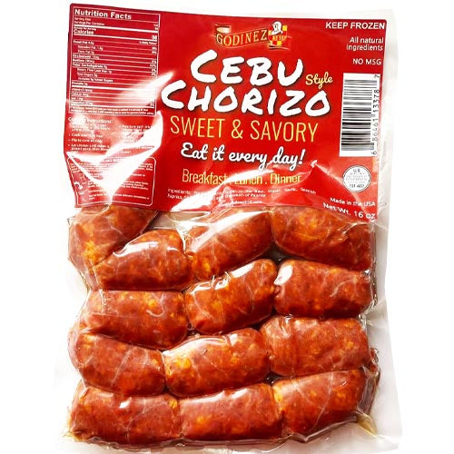 Godinez316 - Cebu Style Chorizo - Sweet and Savory - 16 OZ